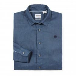 Мъжка риза Mill River Linen Shirt for Men in Indigo
