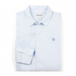 Мъжка риза Mill River Linen Shirt for Men in Light Blue