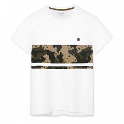 Мъжка тениска Kennebec River Print T-Shirt for Men in White Camo