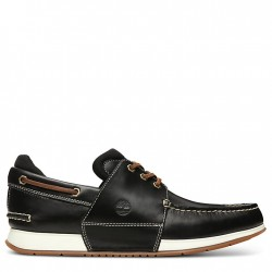 Мъжки мокасини Heger's Bay Boat Shoe for Men in Black