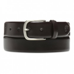 Мъжки колан Antiqued Silver Leather Belt for Men in Brown