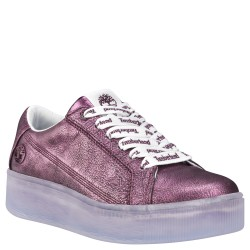 Дамски обувки Marblesea Leather Sneaker in Bright Purple Metallic