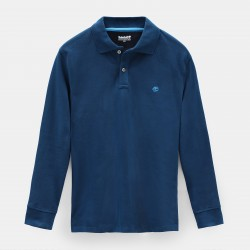Мъжка блуза Millers River LS Polo Shirt for Men in Teal