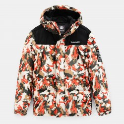 Мъжко яке Camo Puffer Jacket for Men in Orange