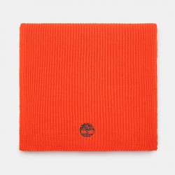 Мъжки шал Ribbed Scarf for Men in Orange