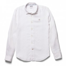 Мъжка риза Mill River Linen Shirt for Men in White