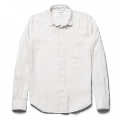 Мъжка риза Mill River Linen Shirt for Men in Light Grey