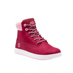 Юношески обувки Davis Square 6 Inch Side-zip Boot for Junior in Red