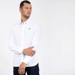 Мъжка риза Eastham River Stretch Poplin Shirt for Men in White