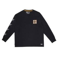Мъжка блуза Garment-Dyed LS T-Shirt for Men in Black