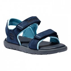 Детски сандали Nubble 2 Straps Leather Sandal for Youth in Navy