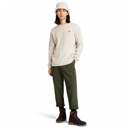 Мъжки пуловер Phillips Brook Cable-knit Sweater for Men in White