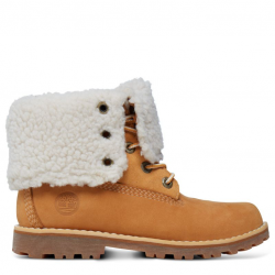 Детски боти Timberland® Authentics 6-inch Waterproof Shearling Boot Yellow