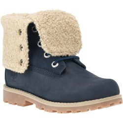 Юношески обувки Authentics 6-Inch Faux Shearling Boot Blue