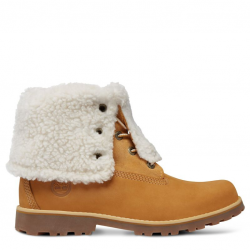 Детски боти Timberland® Authentics 6-inch Waterproof Shearling Boot T Yellow