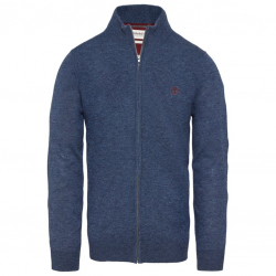 Мъжка жилетка Jones Brook Wool Cardy Night Blue Fleck