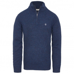 Мъжки пуловер Beech River Merino Zip Jumper Blue