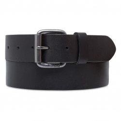 Мъжки колан 38mm Leather Belt Black