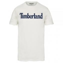 Мъжка тениска Kennebec River Linear Logo T-Shirt White