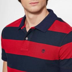 Мъжка тениска Millers River Stripe Polo Shirt Red