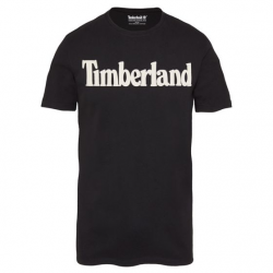 Мъжка тениска  Kennebec River Linear Logo T-Shirt Black