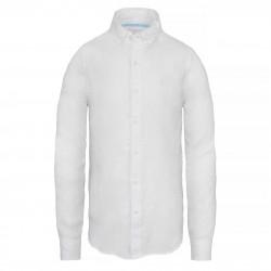 Мъжка риза Mill River Linen Shirt White