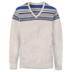 Мъжки пуловер RED HILL RIVER V NEC ECRU HEATHER