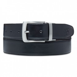 Мъжки колан Reversible Leather Belt for Men in Black