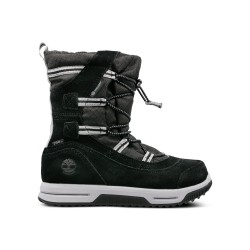 Детски ботуши TIMBERLAND SNOW STOMPER PULL ON WP in Black