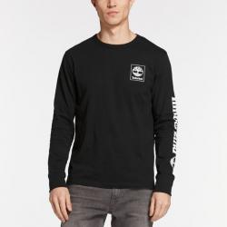 Мъжка блуза Men's Triple Logo Graphic T-Shirt in Black