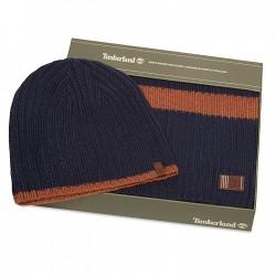 Мъжки подаръчен комплект Ribbed Stripe Gift Set for Men in Navy