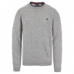Мъжки пуловер Jones Brook Crew Neck Merino Sweater for Men in Grey