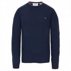 Мъжки пуловер Jones Brook Crew Neck Merino Sweater for Men in Navy