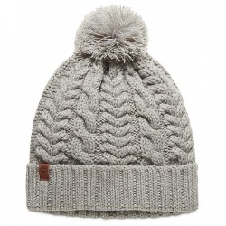 Дамска шапка Cable Pom-Pom Watch Cap for Women in Grey