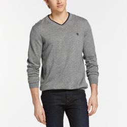 Мъжки пуловер Men's Jones Brook V-Neck Merino Wool Sweater in Grey